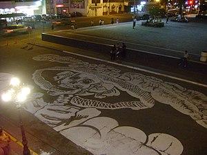 """Español: Pintura gigante de """"El Taco""""..."""