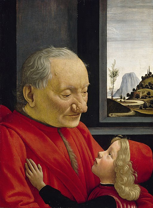 """An Old Man and his Grandson"" by Domenico Ghirlandaio"