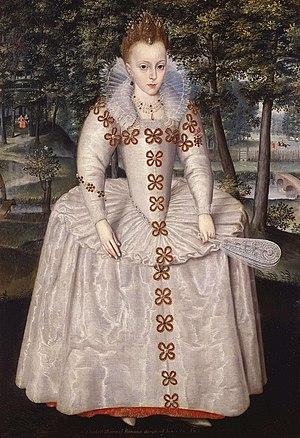 Elizabeth Stuart (later Queen of Bohemia), age 7