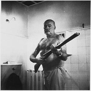 Ernest Hemingway at the Finca Vigia, Cuba - NA...