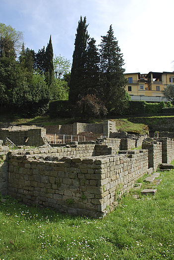 Fiesole archaeological site, Florence, Italy. ...