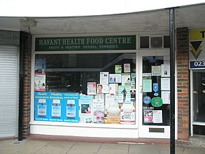 English: Havant Health Food Centre