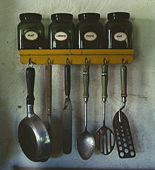 kitchen spoons aid bbq utensil wikipedia various utensils at top a spice rack with jars of mint caraway