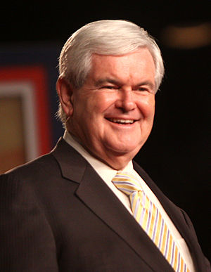Newt Gingrich at a political conference in Orl...