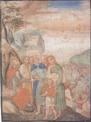 Lenten-canvas of Millstatt - The feeding of fi...