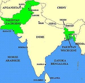 English: Pakistan before the Bangladesh War in...