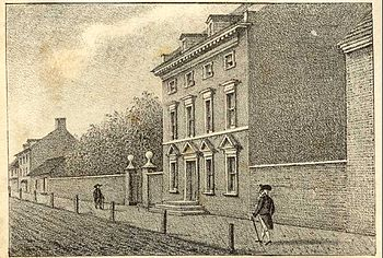 """Residence of Washington in High Street, ..."