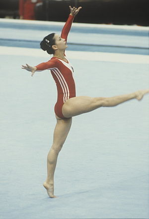 """Soviet gymnast Nelli Kim"". Soviet gymnast Nel..."