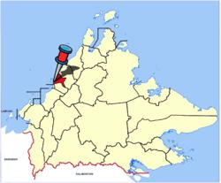Lokasi Kota Kinabalu di Sabah