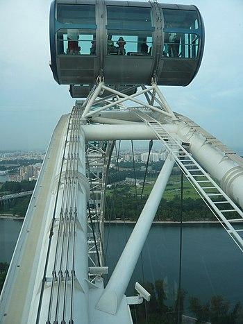 Singapore Flyer Capsule closeup