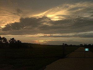 First light of dawn over Orlando-Sanford Inter...