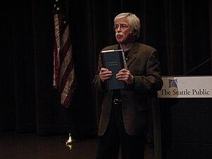 Author William Least Heat-Moon speaking in the...