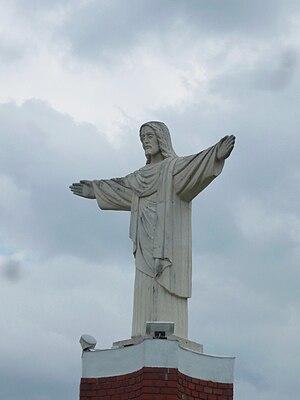 English: Zambrów - the monument of Jesus Chris...