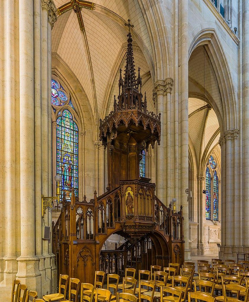 FileBasilica of Saint Clotilde Pulpit Paris France