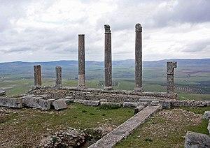 English: Temple of Saturn, Dougga, Tunisia Fra...