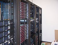 Multiple racks of servers, and how a datacente...