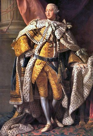 King George III (in coronation robes)