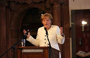 English: Angela Merkel got honorary doctorate ...