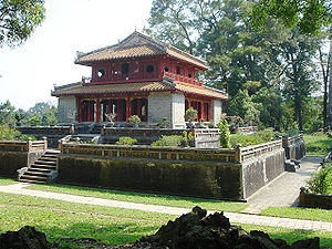 Minh Mang mausoleum was built 12km from Hue in...