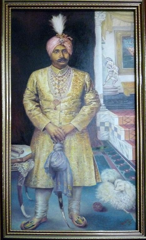FilePainting of Gajapati Maharaja Krushna Chandra Dev