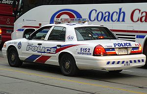 English: Police Car in Toronto Deutsch: Polize...