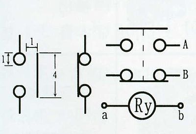 Normally Open Relay Symbol Primary And Secondary Symbol