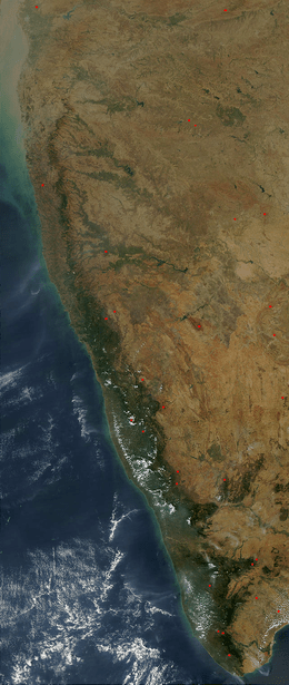 Horseshoe Chain Of Lakes Map : horseshoe, chain, lakes, Western, Ghats, Wikipedia