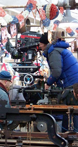 Director Tom Hooper directing The King's Speec...