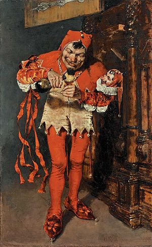 Depiction of a jester by William Merritt Chase