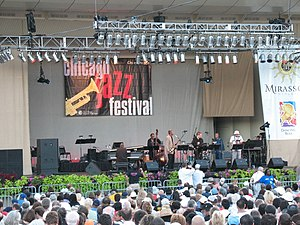 English: 2007 Chicago Jazz Festival at Petrill...