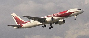 Boeing 757-200 N741PA titled Air Peru takes of...