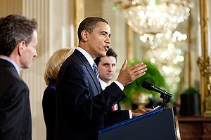 President Barack Obama delivers remarks to sma...