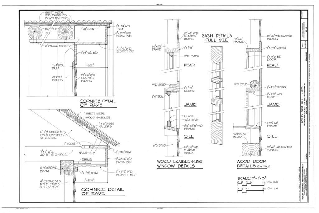 Diagram Of Cornice File Cornice Detail Of Rake Cornice Detail Of Eave Wood