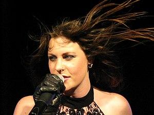 English: Floor Jansen, singer of the Dutch ban...