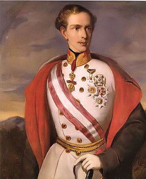 The young Emperor Franz Joseph