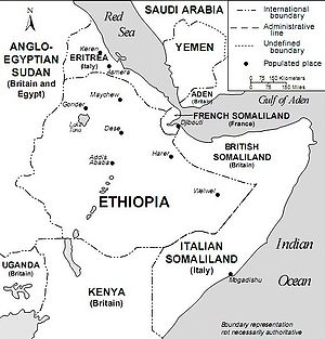 English: Horn of Africa and Southwest Arabia i...