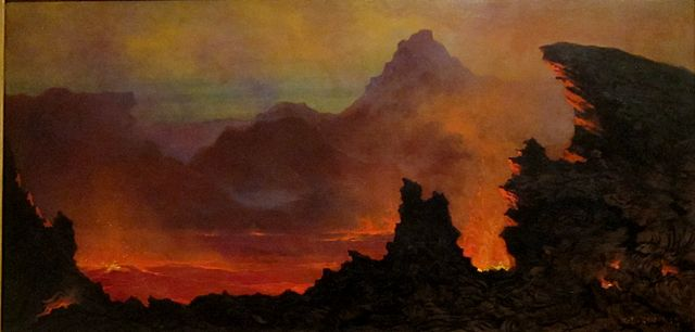 FileKilauea Caldera Sandwich Islands by Jules Tavernier San Diego Museum of ArtJPG
