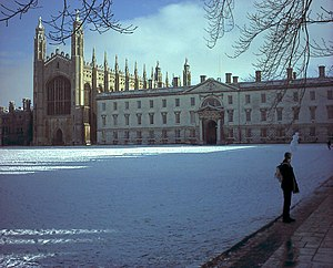 English: King's College, Cambridge, UK, under ...