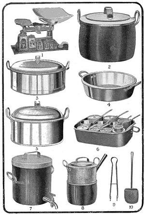 kitchen utensils mosaic backsplash mrs. beeton's book of household management/chapter iv ...