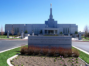 English: The Reno Nevada Temple of The Church ...