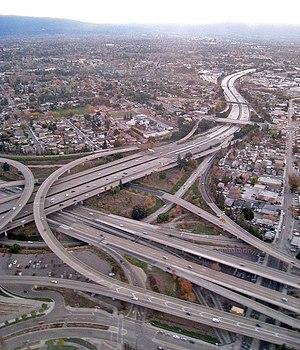 San Jose, CA freeway interchange 280 and 87