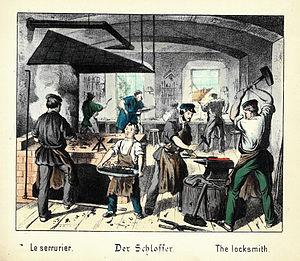The locksmith Français : Le serrurier