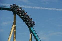 English: The Kraken roller coaster ride at Sea...