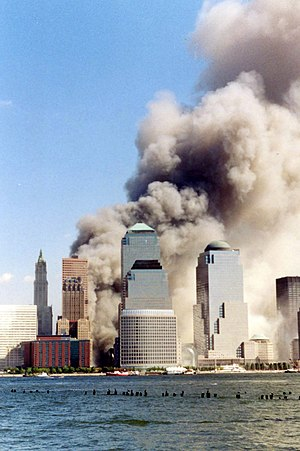 Picture of the World Trade Center on 9/11 shor...