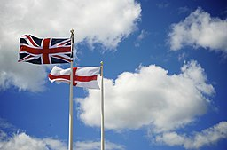 UK and England flags