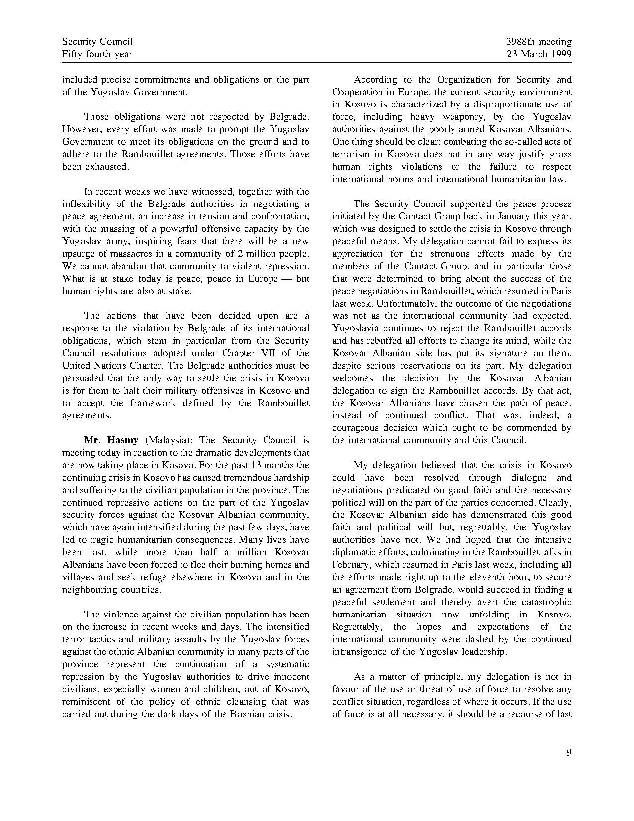 Page United Nations Security Council Meeting V1 9