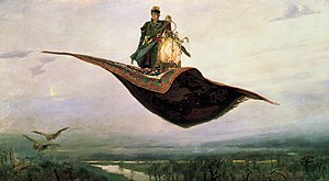 Viktor Vasnetsov. The Flying Carpet (1880). Oi...