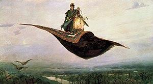 The Flying Carpet by Viktor Vasnetsov (1880). ...