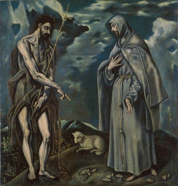 STS John and Francis El Greco Painting