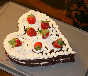 Cake on Valentine's Day